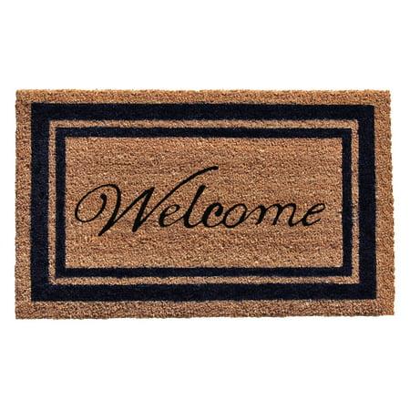 Home & More Border Welcome Coir Outdoor Doormat Home Coir Door Mat
