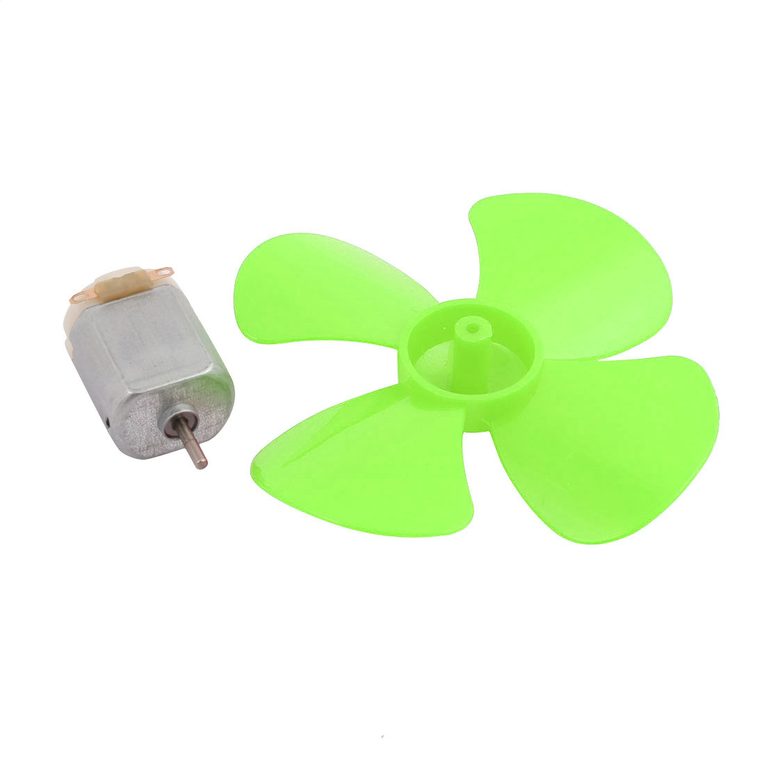 5Pcs DC 6V 0.21A 13000RPM Strong Force Motor 4 Vanes Green Propeller 80mmx2mm - image 4 of 5