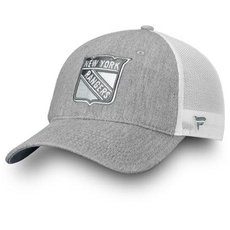 New York Rangers Fanatics Branded Lux Slate Trucker Adjustable Hat - Gray - OSFA (New York Rangers Hat Reebok)