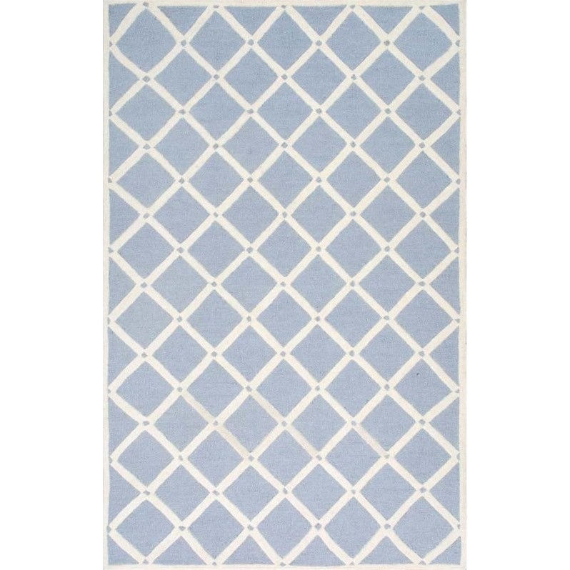 nuLOOM Simplicity Blue/White Area Rug