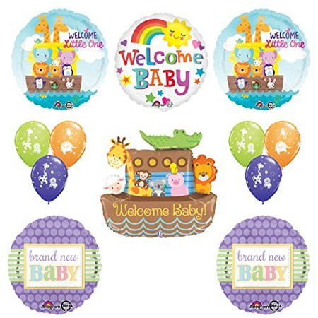 Noahs Ark Baby Shower Tea - Betallic Noahs Ark Cute and Cuddly Jungle Animal Latex Welcome Baby Baby Shower