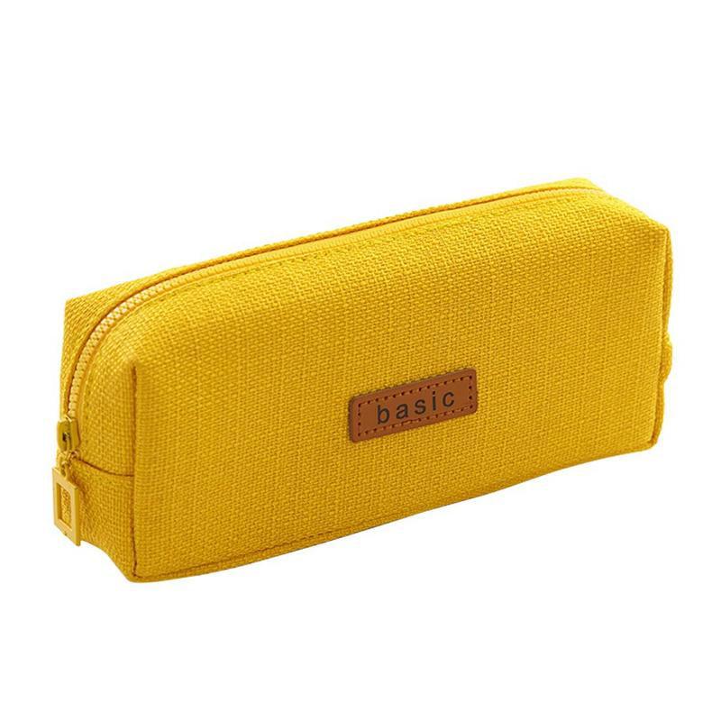 Bright Leopard Print  Canvas Zip Pouch Pencil Case Multi Purpose Makeup Bag
