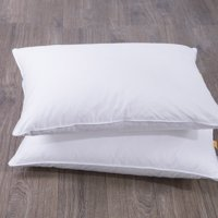 Puredown Goose Feather and Down Pillow, White, Set of 2, Standard/Queen