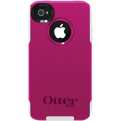 OtterBox iPhone 4S Pink is Strength Commuter Series Case, Hot Pink Plastic/White Silicone