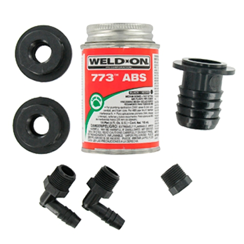 "Valterra RK908 1-1/4"" Barbed Straight ABS Water Tank Fill Kit"