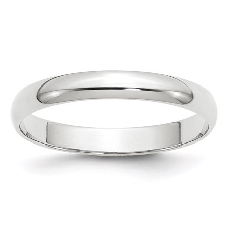 14kt White Gold 3mm Ltw Half Round Wedding Ring Band Size 8 Classic Fine Jewelry Ideal Gifts For Women Gift Set From Heart 3mm Half Round Wedding Band