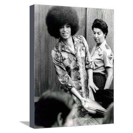 Davis Art Center (Angela Davis (B1944) American Black Activist, Here in 1972 During Her Trial Stretched Canvas Print Wall)