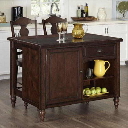 Home Styles Country Comfort Kitchen Island And 2 Bar