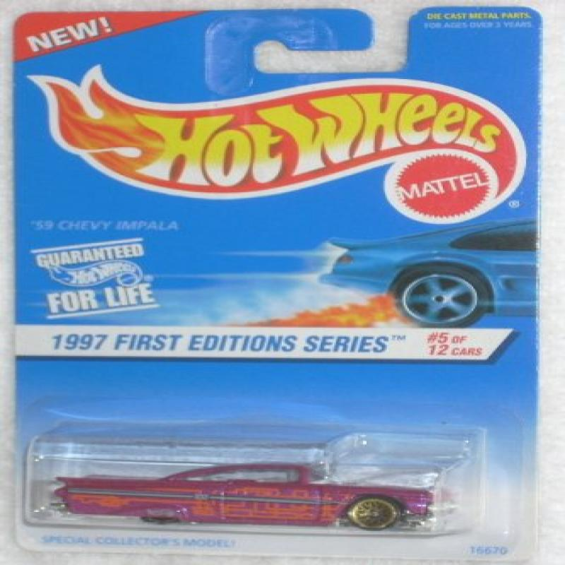 Mattel Hot Wheels 1997 First Editions 1:64 Scale 59 Chevy Impala Die Cast Car #005 by