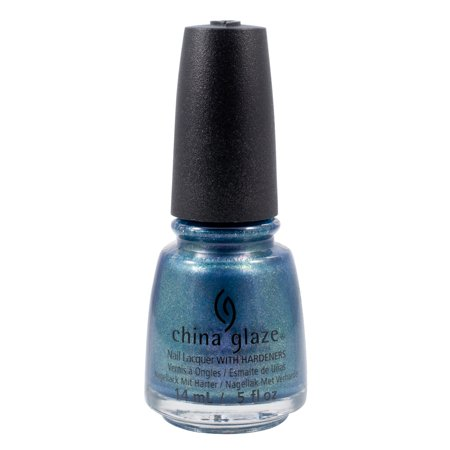 Gorgeous Blue Glaze (China Glaze 0.5oz Nail Polish Lacquer Clay Blue, DECEMBER TO REMEMBER,)