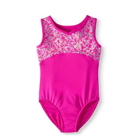 11c02f0bd4a2 Danskin Now - Girls  Foil Print Gymnastics Leotard - Walmart.com
