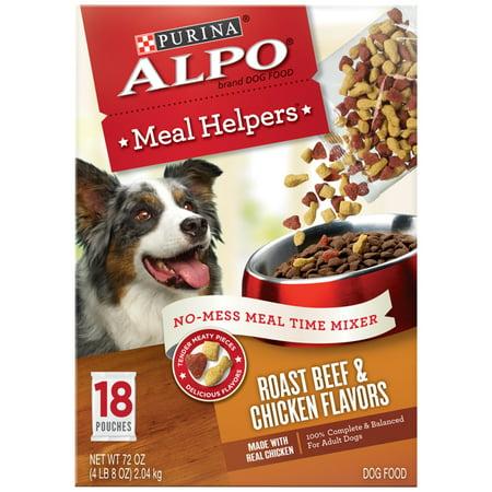 ALPO Meal Helpers Roast Beef & Chicken Flavors Dog Food 18 ct - Halloween Food Main Meal