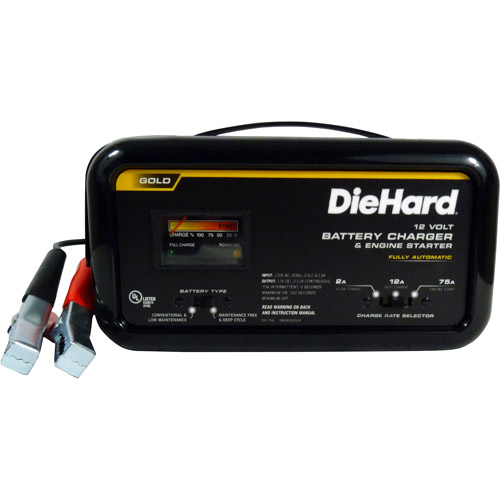 DieHard 75/12/2 Amp Fully Automatic Battery Charger with Emergency Engine Start