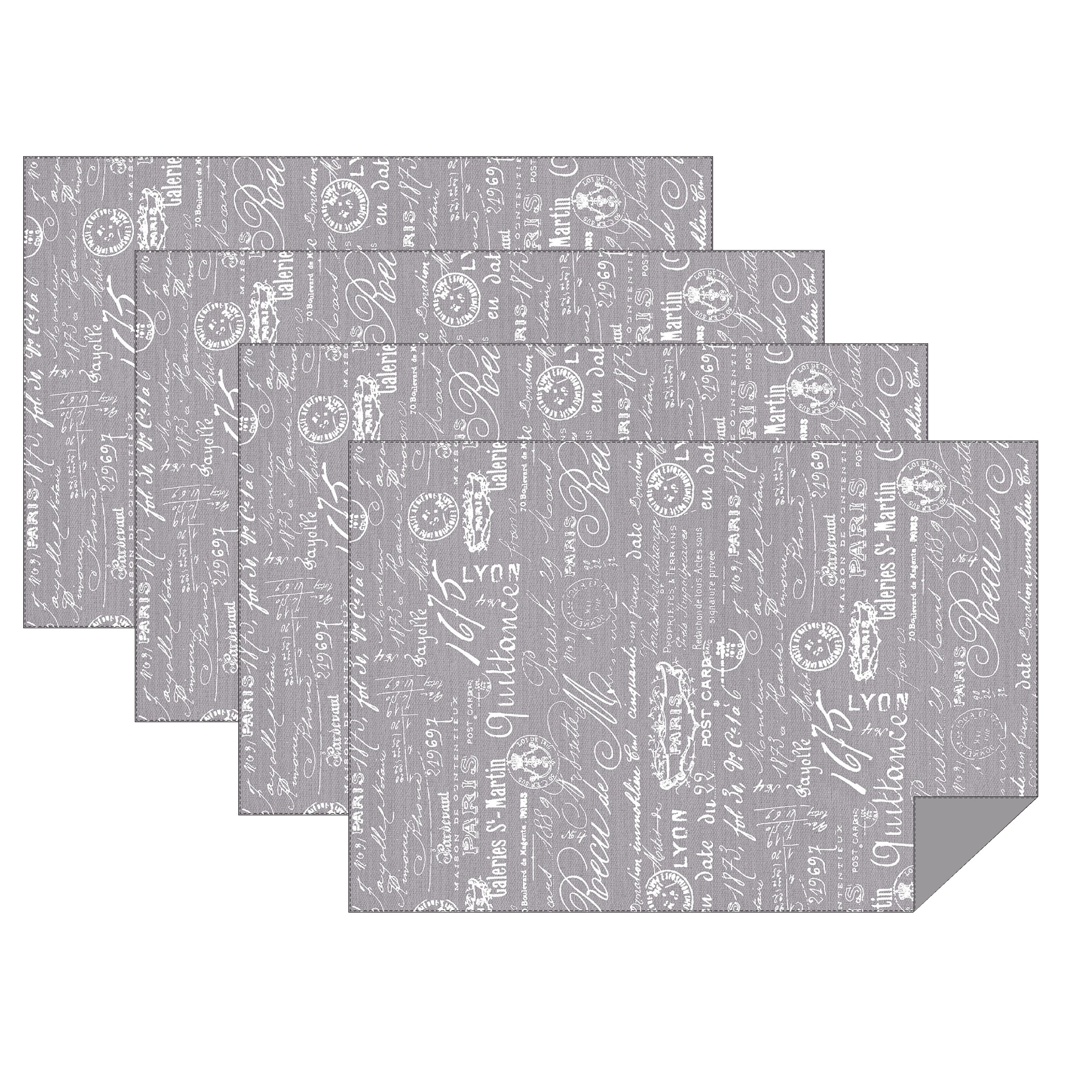 """Hotel by Domay Paris Placemats, Set of 4, 13"""" x 19"""", Multiple Colors Available"""