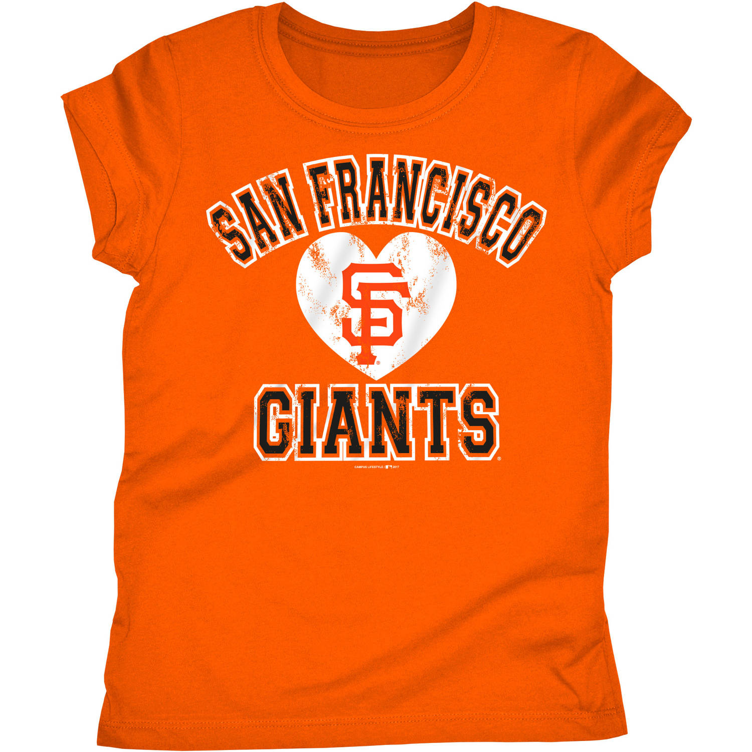 MLB San Francisco Giants Girls Short Sleeve Team Color Graphic Tee