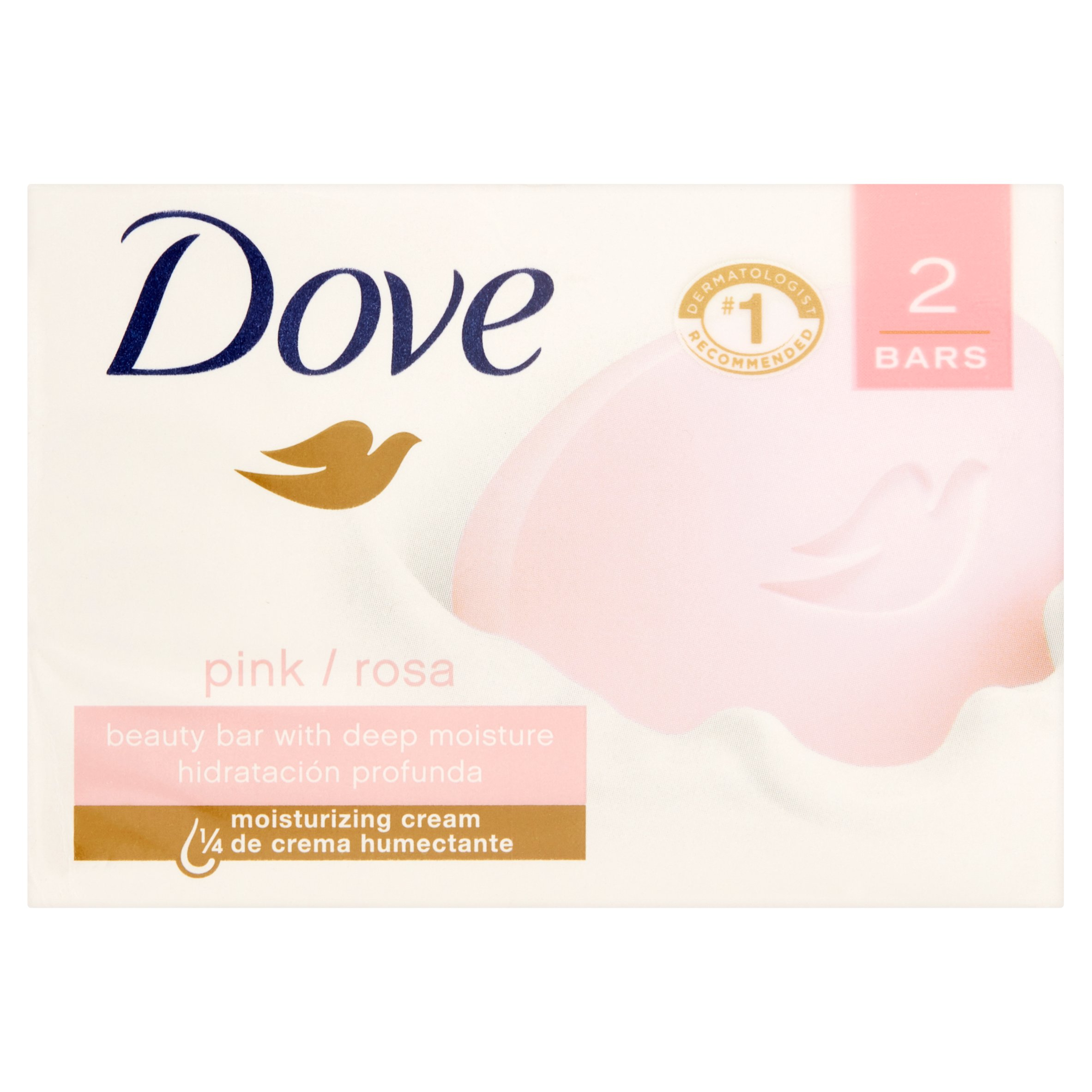 Dove Pink Beauty Bar, 4 oz, 2 Bar - Walmart.com