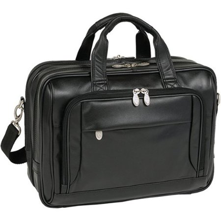 17 West Loop Black Leather Expandable Double Compartment Briefcase American West Leather Briefcase