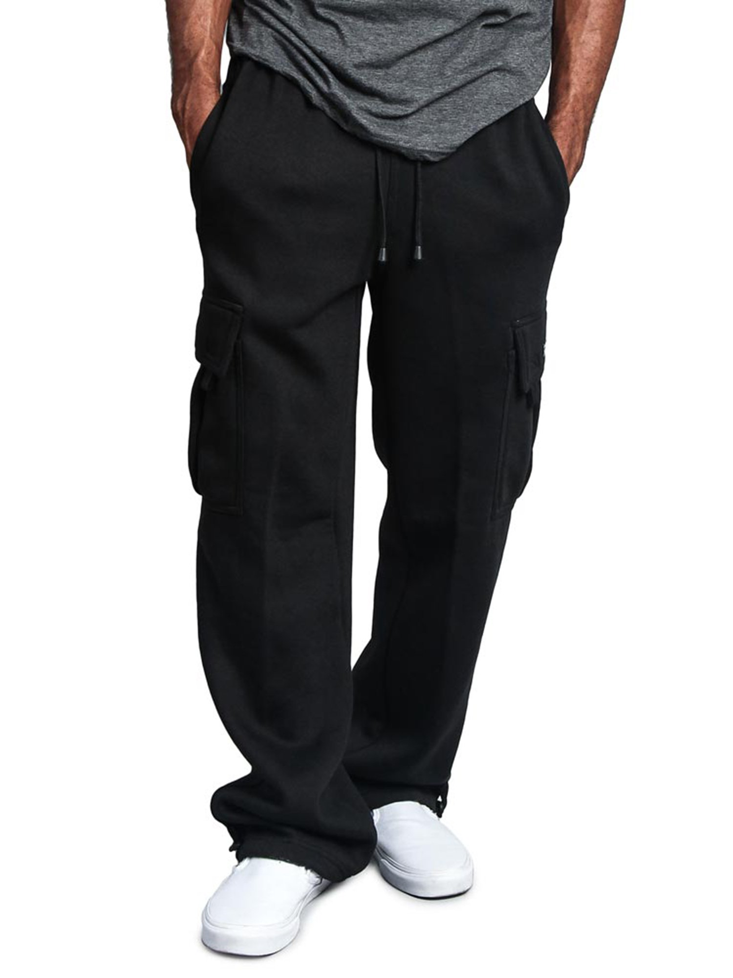 G-Style USA Men/'s Jogger Heavy Weight Fleece Cargo Pocket Sweat Pants US STOCK