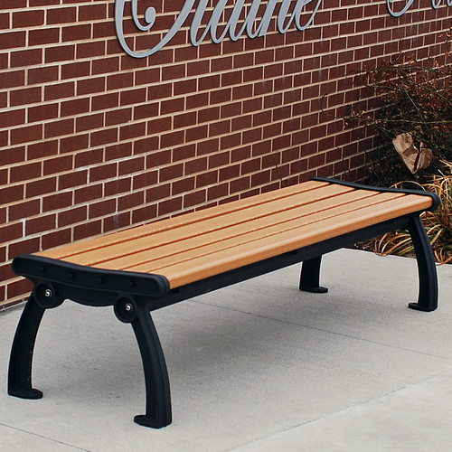 Frog Furnishings Heritage Backless Recycled Plastic Park Bench