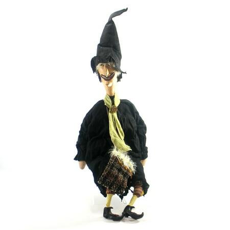 Halloween BIG EYED WITCH Polyresin Folk Art Tea Stained Halloween2