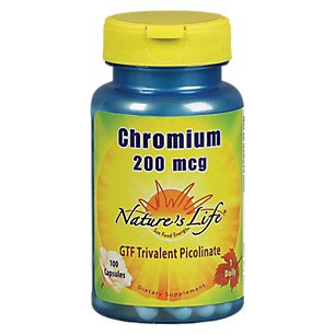Le chrome picolinate 200mcg Nature's Life 100 Caps