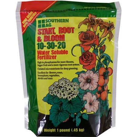 Start, Root, and Bloom 10-30-20 Soluble Fertilizer - 1 Lb. (Fertilizer Root Growth)