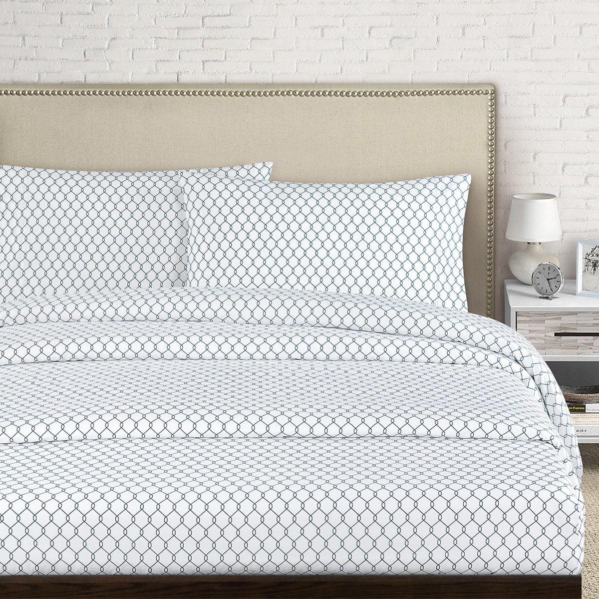 Echelon Home Fence 250 Thread Count Cotton Percale Sheet Set - Walmart.com