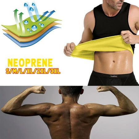 M-XXXL Men's Hot Sweat Sauna Vest Body Shaper Slimming Sweat Trainer Gym Cincher Vest Tummy Fat Burner Tank Top Weight Loss Shapewear