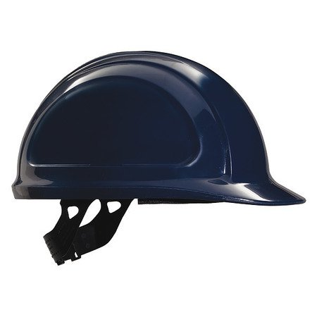 North N10080000 Navy Blue Zone HDPE Cap Style Hard Hat With Quick-Fit 4 Point Pinlock Suspension, Accessory Slots And Removable Brow Pad (The North Face Windstopper High Point Hat)