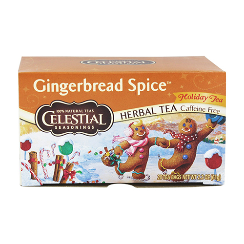 Celestial Seasonings Gingerbread Spice Caffeine Free Herbal Tea Bags 20 Ea, 6 Pack