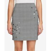 Women's Glen Plaid Embroidered Straight Pencil Skirt 14