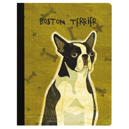 Tree-Free Greetings Boston Terriers Soft Cover-140 Page Eco Composition College Ruled Book-CJ47163