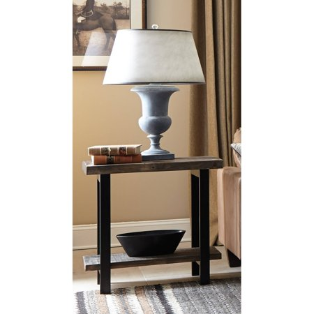 Pomona 2-Tier End Table, Rustic Natural - End Open Natural Vent
