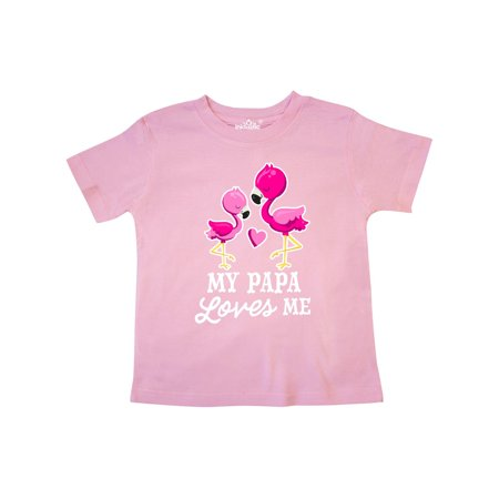 My Papa Loves me with Two Flamingos Toddler T-Shirt