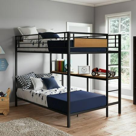 Better Homes & Gardens Austen Full Over Twin Bunk Bed with Open Bookshelves - Walmart.com
