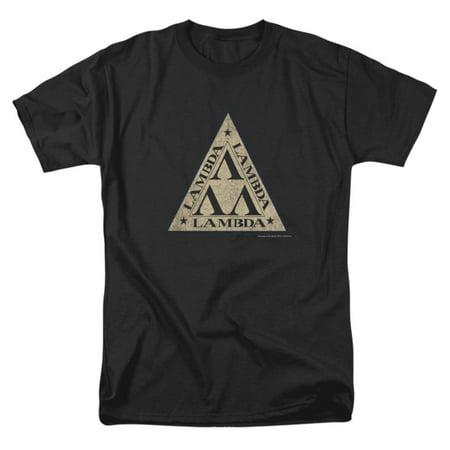 Revenge Of The Nerds Men's  Tri Lambda Logo T-shirt Black - Nerd Clothes