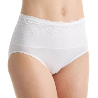 Rhonda Shear 4220 Seamless Brief Panty with Lace Overlay