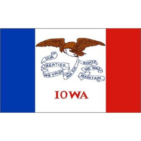 Iowa Flag IA State Banner Pennant 2x3 foot Indoor Outdoor 24x36 inches (State 2x3 Banner Flag)