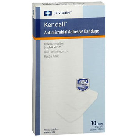Kendall Conform Stretch Bandages - Kendall Antimicrobial Adhesive Bandages - 10 Count