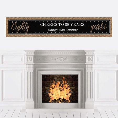 Chic 80th Birthday - Party Decorations Party Banner