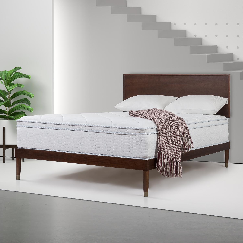 Slumber 1 by Zinus 12 Inch Spring Support Mattress with Green Tea Foam Comfort Layer