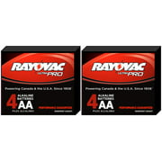 Rayovac Alkaline UltraPro AA Batteries  - 2 Boxes of 4 + FREE SHIPPING