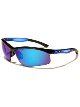 Product Image New Mens Mirrored Lens Half Frame Wrap Around Sport Cycling  Baseball Sunglasses ff020887406