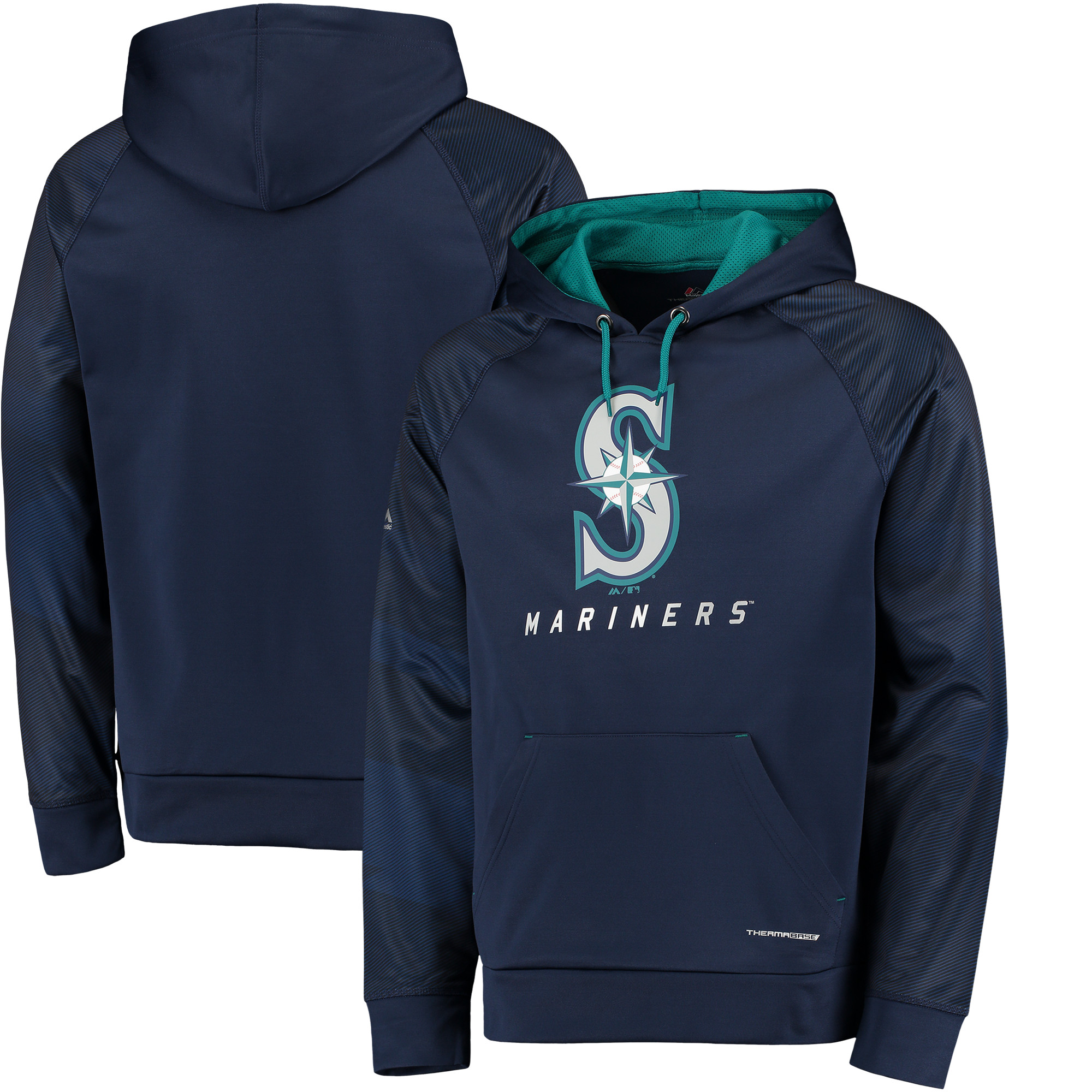 """Seattle Mariners Majestic MLB """"Armor 2"""" Men's Pullover Hooded Sweatshirt by MAJESTIC LSG"""