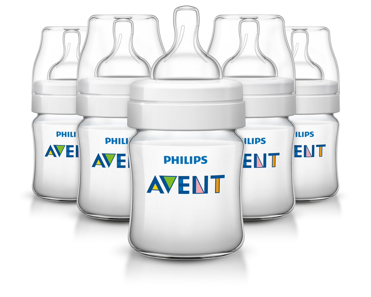 Philips Avent Anti-colic Baby Bottle 4oz, Clear, 5pk by Philips AVENT