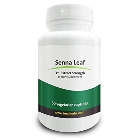 Real Herbs Senna Leaf Extract - Derived from 2,100mg of Senna Leaf with 3 : 1 Extract Strength - Laxative, Anti-Inflammatory Agent & Improves Metabolism - 50 Vegetarian