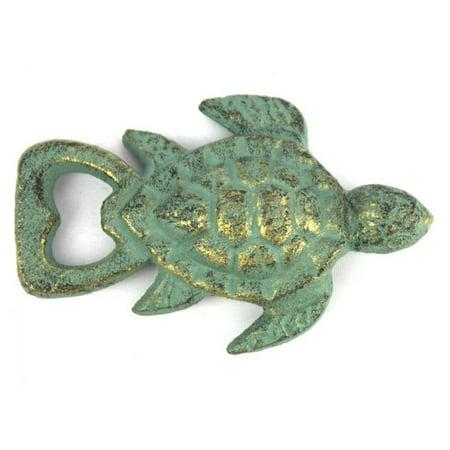 Antique Bronze Cast Iron Turtle Bottle Opener 4.5