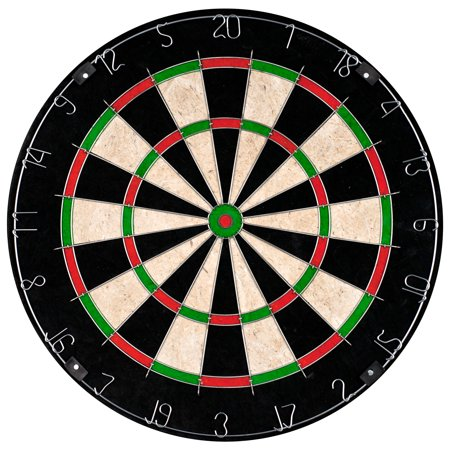 Electronic Bristle Dartboard (Bristle Dart Board, Tournament Sized Indoor Hanging Number Target Game for Steel Tip Darts by Hey! Play! )