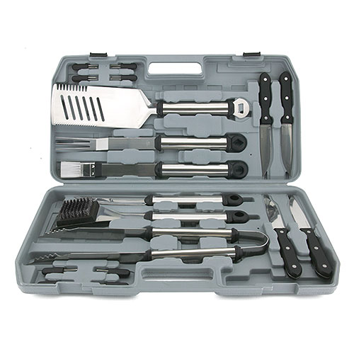 Mr. Bar-B-Q 18-Piece Stainless Steel BBQ Tool Set