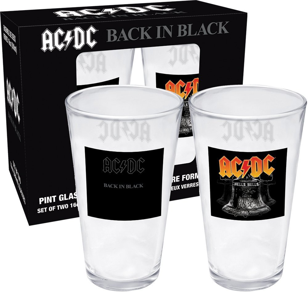 AC//DC BIERGLAS BEER GLASS FOR THOSE ABOUT TO ROCK PINT 570 ml
